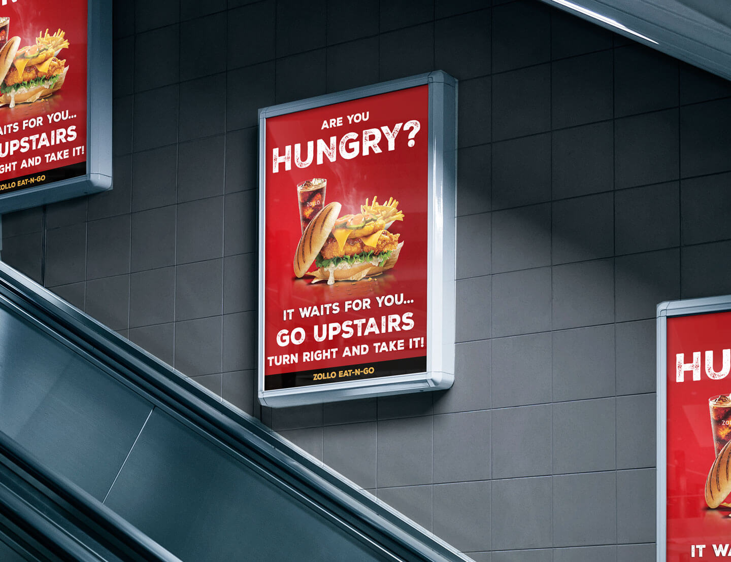 Underground advertising made with Fujitrans. Design made by Zollo.Design